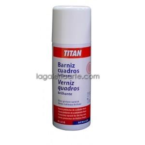 Barniz Cuadros Spray Brillante 400ml TITAN