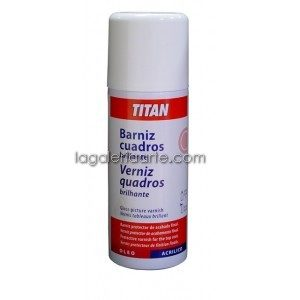Barniz Cuadros Spray Satinado 400ml TITAN