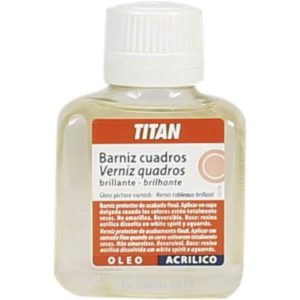 Barniz Cuadros Brillante 100ml TITAN