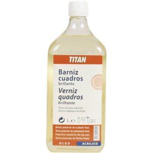 Barniz Cuadros Brillante 1 litro TITAN