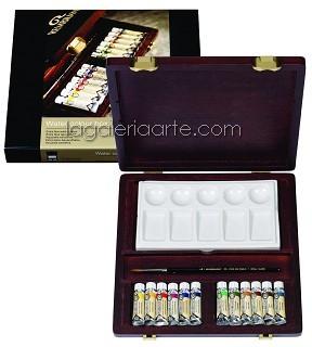 Caja de Madera RWC Box Traditional Acuarela REMBRANDT (12 tubos)