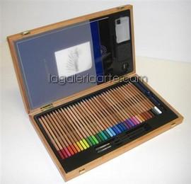 Caja de Madera Fantasia 36 Colores Acuarelables TITAN