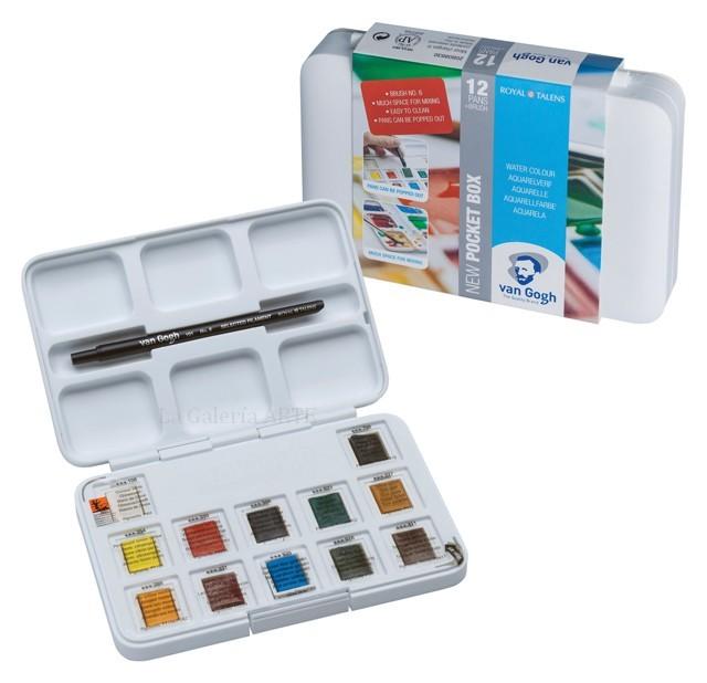 Estuche Pocket Box 12 pastillas Acuarela Van Gogh