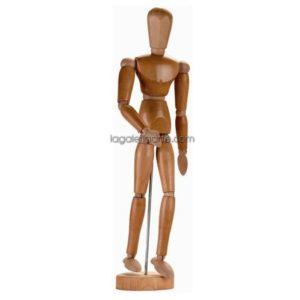 Maniqui Masculino Barnizado 14cm