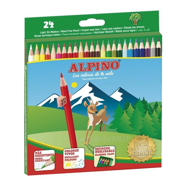 Caja de Lapices de 24 Colores ALPINO