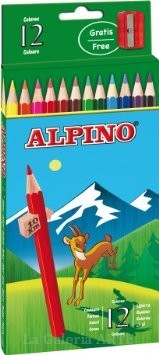 Caja de Lapices de 12 Colores ALPINO