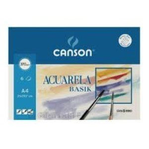 Mini-Pack Acuarela y Tempera BASIK CANSON 370g 6 hojas A4