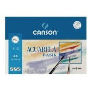Mini-Pack Acuarela y Tempera BASIK CANSON 370g 6 hojas A4