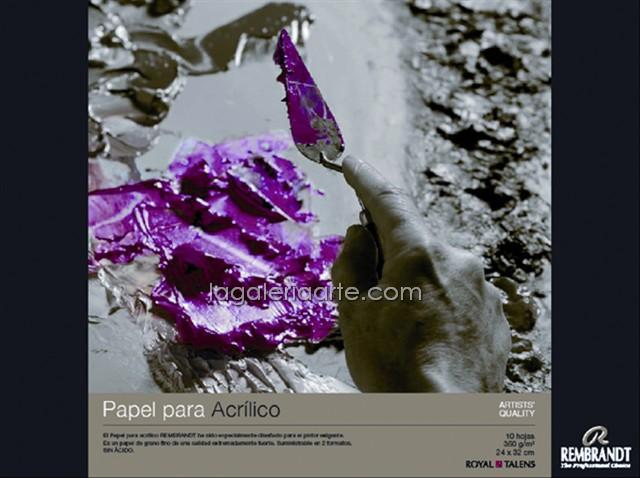 Bloc Acrilico REMBRANDT 30X40cm 10 Hojas