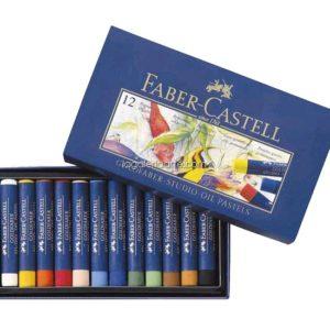 Caja de 12 Pasteles Grasos Permanentes FABER-CASTELL
