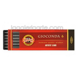 6 Minas Grafito Gioconda 5mm 6B