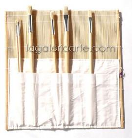 """Porta-Pinceles Bambu """"Vacio"""""""