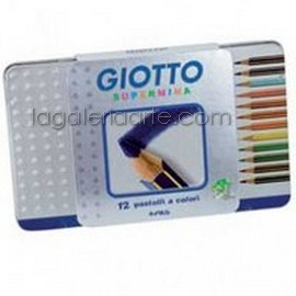 Caja Metal 12 Lapices de Colores GIOTTO