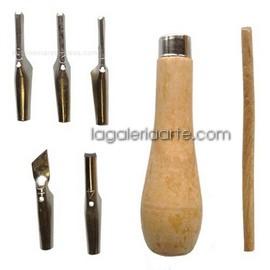 Estuche LaGaleriaArte Mango y 5 Gubias para grabados