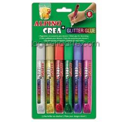 Glitter Glue ALPINO 6 Colores