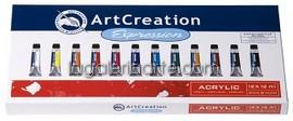 Estuche Acrilico 12 X 12ml Art Creation Expression