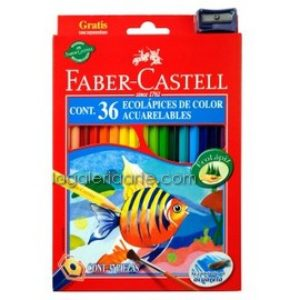 36 EcoLapices de Color Acuarelables FABER-CASTELL