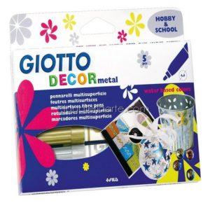 Rotuladores GIOTTO Decor Metal Oro,Bronce,Plata Magenta,Azul