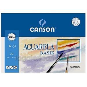 Pack Acuarela y Tempera A3 BASIK CANSON 6 Hojas