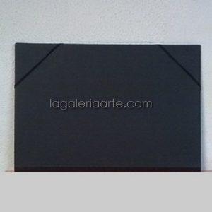Carpeta Negra 3 Solapas 34,5x25,5cm