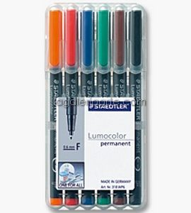 6 Rotulador STAEDTLER Permanent Lumocolor 1.0mm