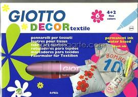 Blister 6 Rotuladores GIOTTO DECOR Textile