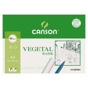 Papel Vegetal 90g CANSON 12 Hojas A-3 Mini Pack