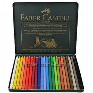 Caja Metal 24 Lapices de Color FABER-CASTELL