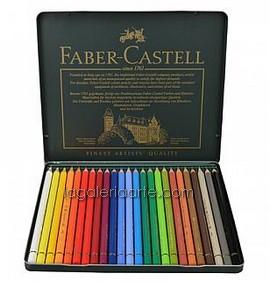 Caja Metal 24 Lapices de Color FABER-CASTELL