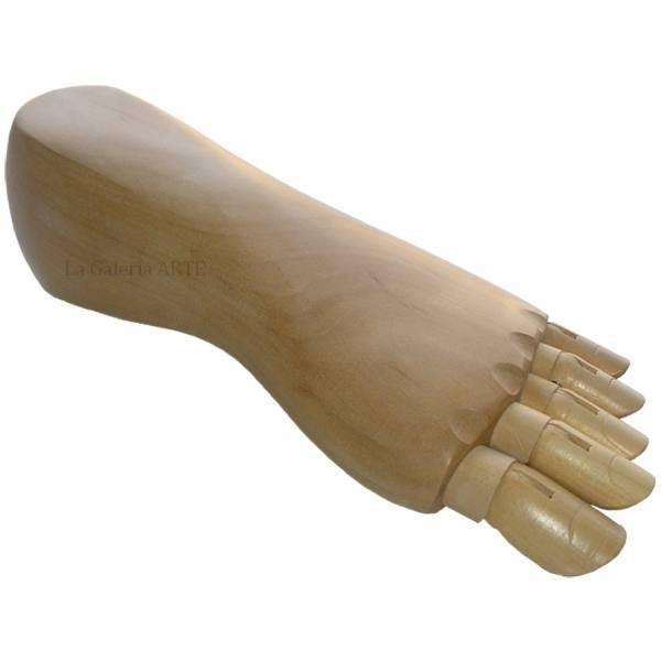 Pie Articulado Izquierdo de Madera 24cm