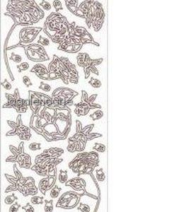 .Stickers Rosa Plata ref:1004