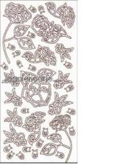 .Stickers Rosa Oro ref:1004