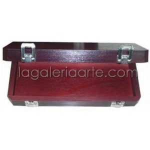 Caja Madera Vacia Pinceles 28x12x5cm TALENS
