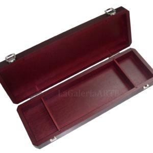 Caja Madera Vacia Pinceles 37x12x5cm TALENS con separadores