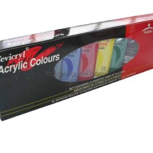 Acrilico Fevicryl Set 10 Tubos 75ml