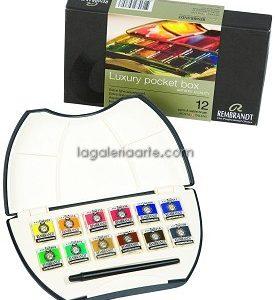 Estuche Acuarela Rembrandt Pocket Box 12 pastillas