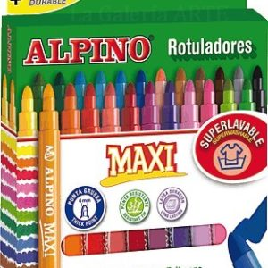 Caja 24 Rotuladores punta gruesa Alpino MAXI