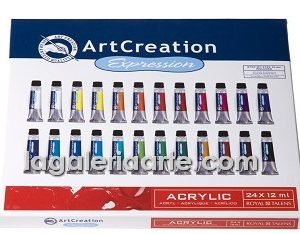 Estuche Acrilico 24 X 12ml Art Creation Expression