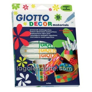 Rotuladores GIOTTO Decor Materials 12 un.