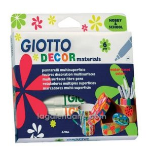 Rotuladores GIOTTO Decor Materials 6 un.