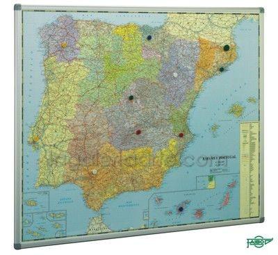 Mapa Mural España y Portugal 103x129cm SIN MARCO Ref. 153G