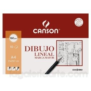 Bloc Dibujo Lineal A3 10 hojas CANSON MARCA MAYOR