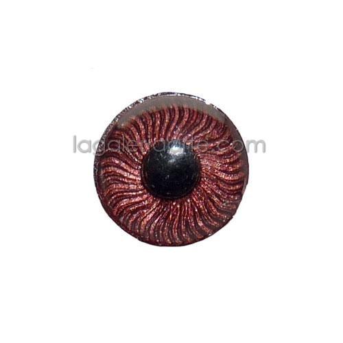Ojos Marron Redondos 11mm 2 unidades