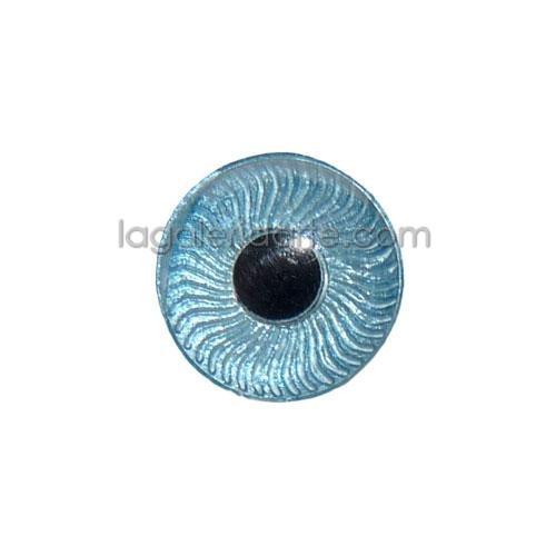 Ojos Celeste Redondos 15mm 2 unidades