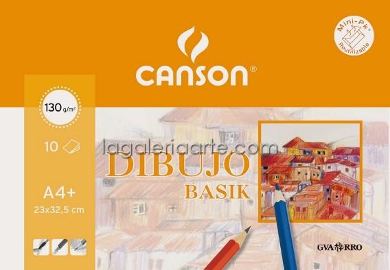 Papel Basik Dibujo A4 Con Margen 10 unidades 130g/m2
