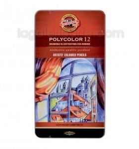 Caja Metalica POLYCOLOR 12 colores KOH-I-NOOR