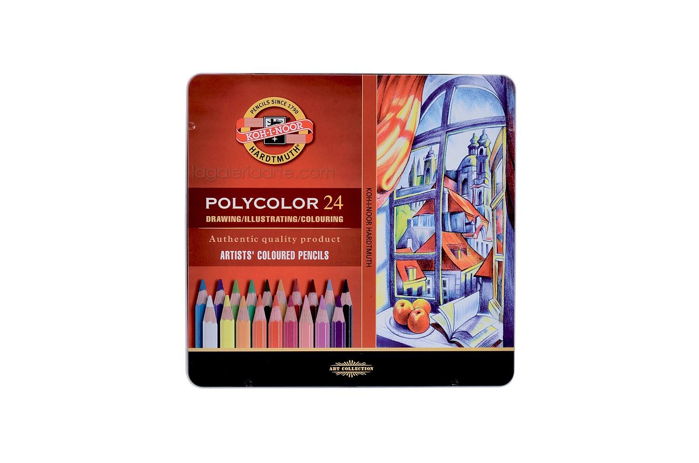Caja Metalica POLYCOLOR 24 Colores KOH-I-NOOR