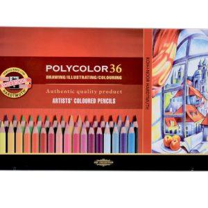 Caja Metalica POLYCOLOR 36 Colores KOH-I-NOOR