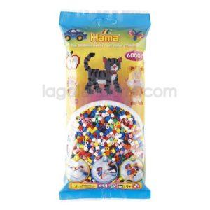 Bolsa Hama midi 205-00 mix/mezcla de 10 colores 6000 piezas