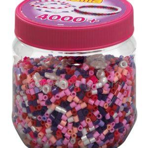 Bote Hama 4.000 beads Pink Mix (nº2058)